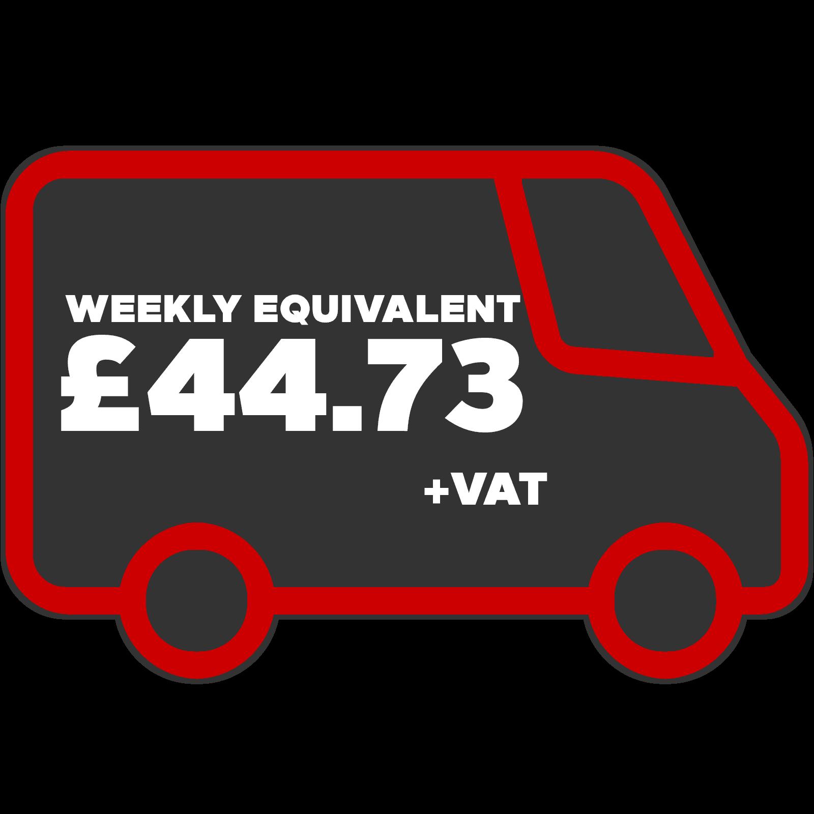 Vauxhall vivaro Weekly Equivalent